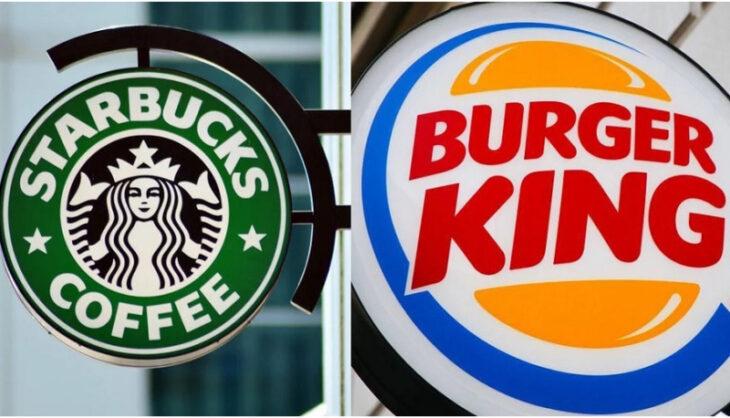 burger king y starbucks