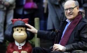 Argentina está de luto por la muerte de Quino, el creador de Mafalda