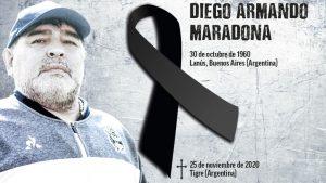 Falleció Diego Armando Maradona a los 60 años de un paro cardíaco